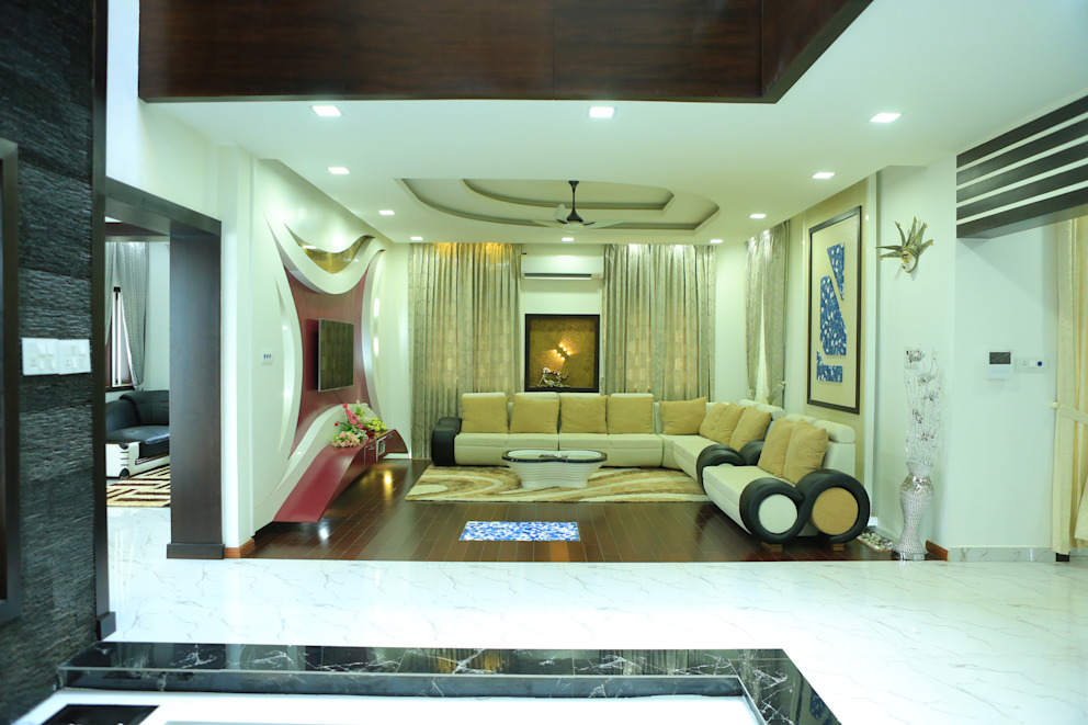 Ultra Modern Interior Design Modern living room by Premdas Krishna Modern