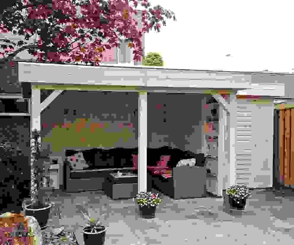 Gazebo with intergrated garden store Garden Affairs Ltd Classic style garden Wood Wood effect