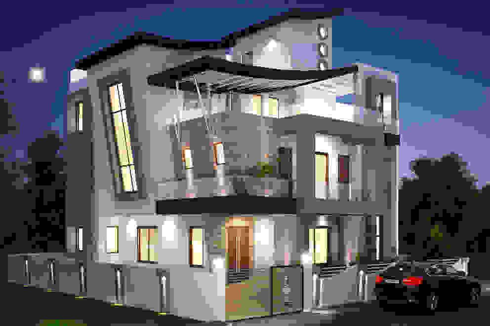 Moderne Häuser von Square 9 Designs Modern