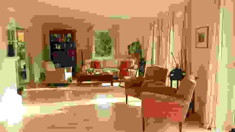 Prager Interiors Living room Wood White