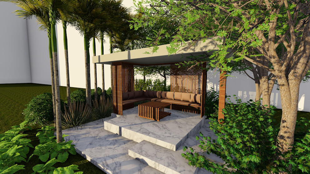 Outdoor Gazebo Studio Machaan Modern style gardens
