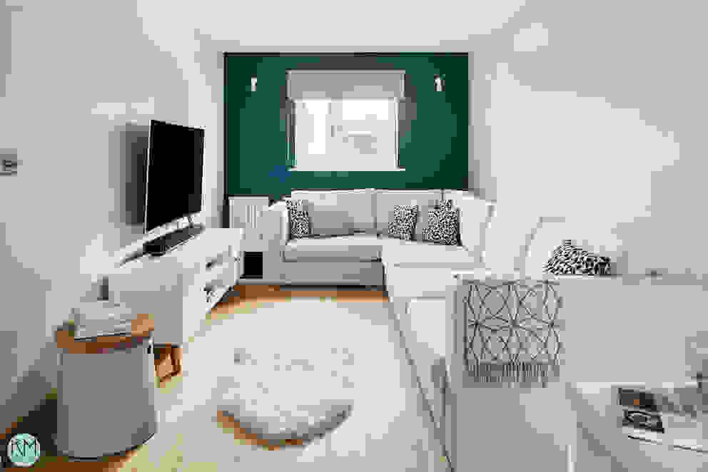 Scandinavian style lounge Katie Malik Interiors Living room