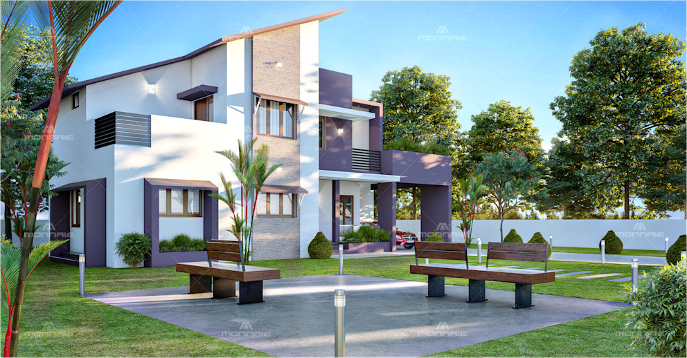 Modern Home Exteriors with Stunning Outdoor Spaces Monnaie Interiors Pvt Ltd Asian style house