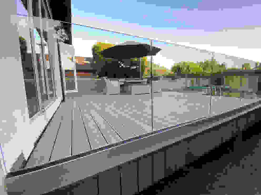 Outdoor Frameless Glass Balustrade Origin Architectural Front yard Glass Transparent