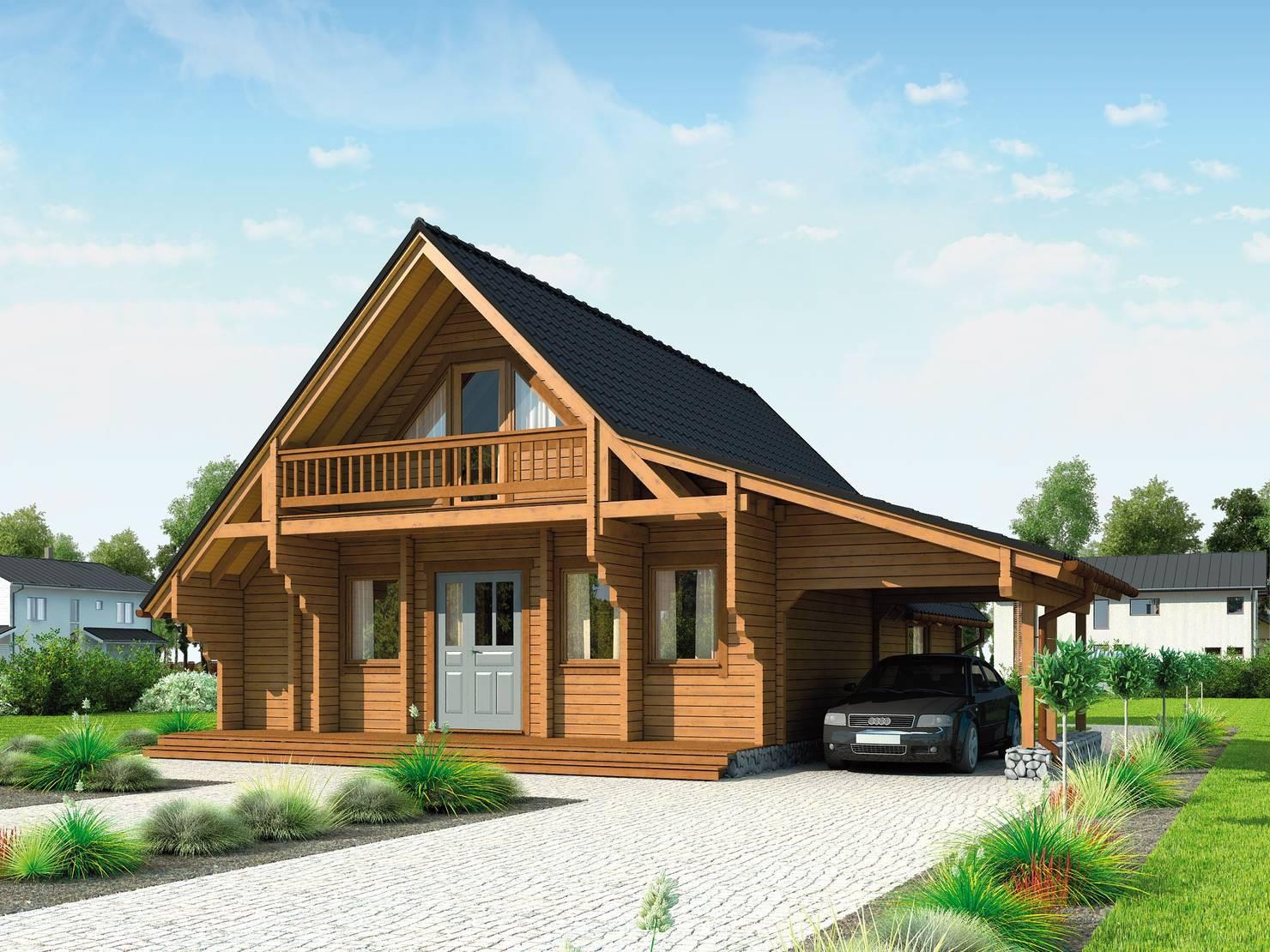 Проект дешевого деревянного дома за 1,6 млн