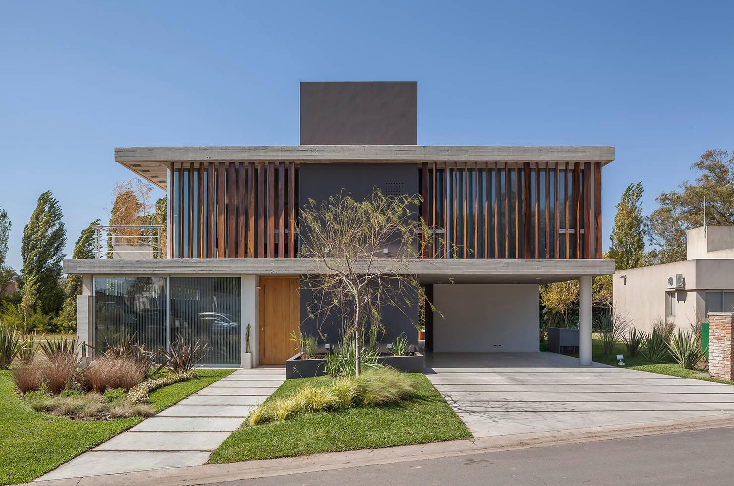 Современный дом в стиле минимализм, с поэтажными планами