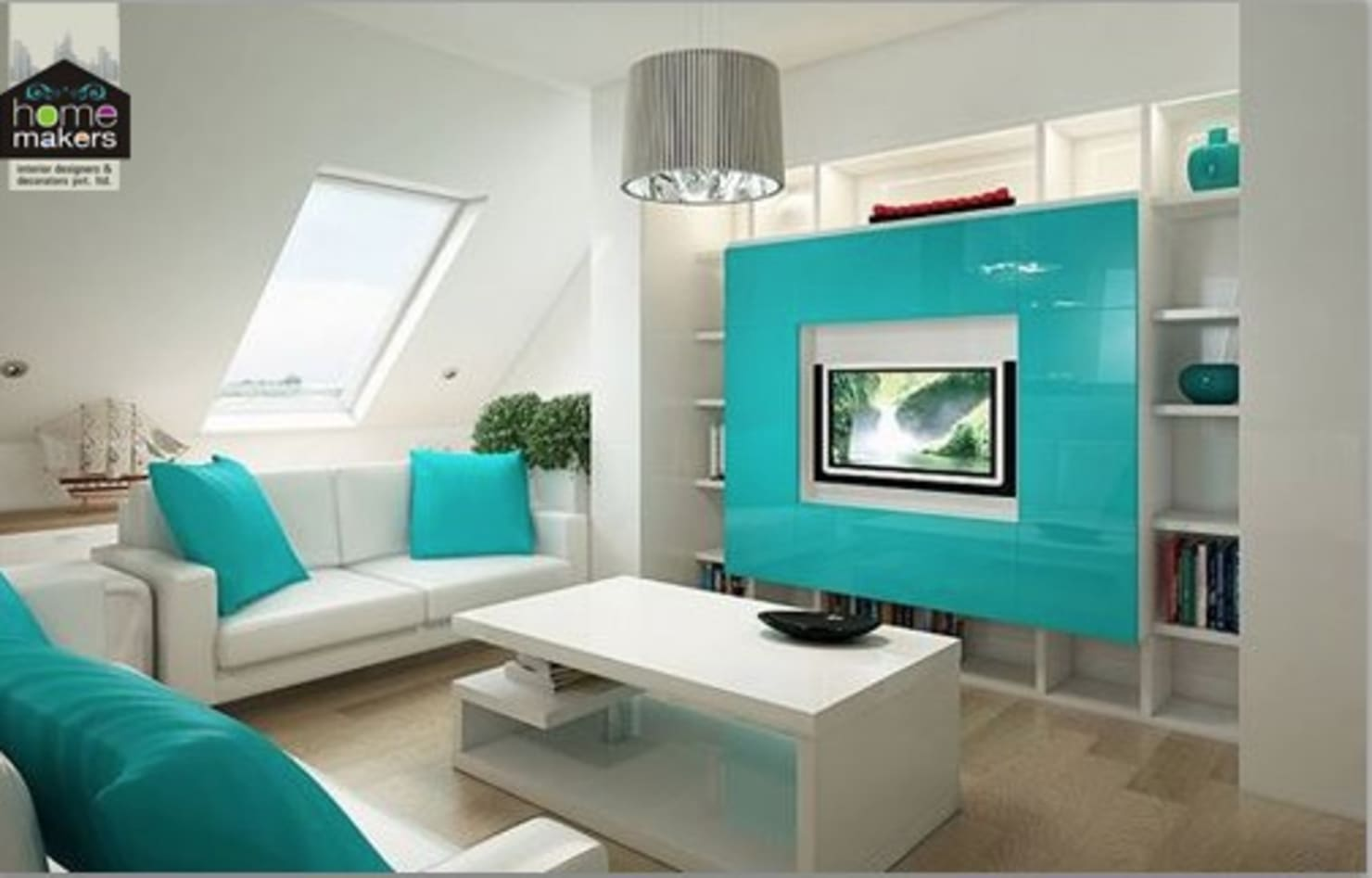 12 modern ways to integrate TV in the living room