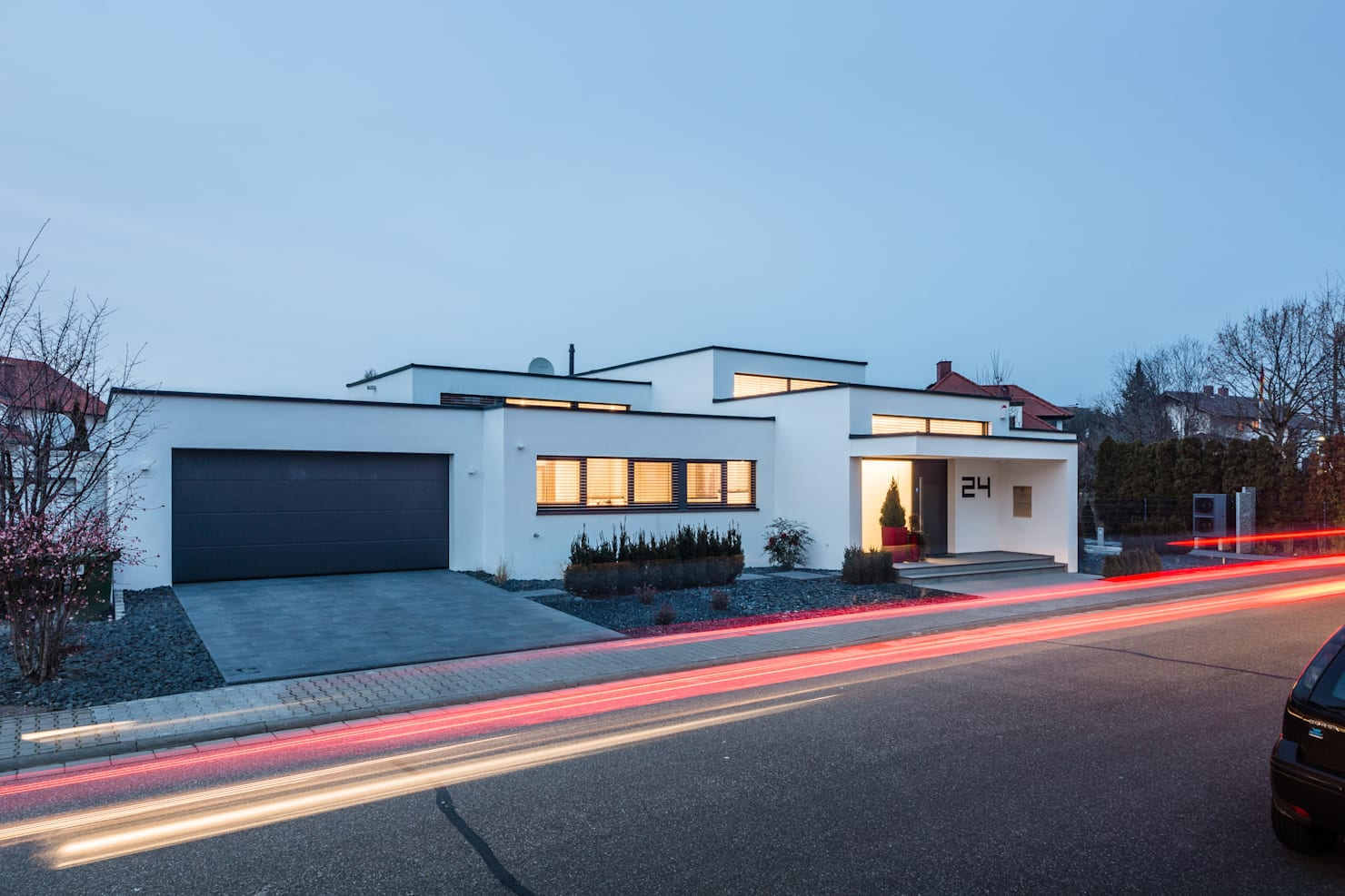 Düz çatıya sahip 20 eşsiz ve modern ev