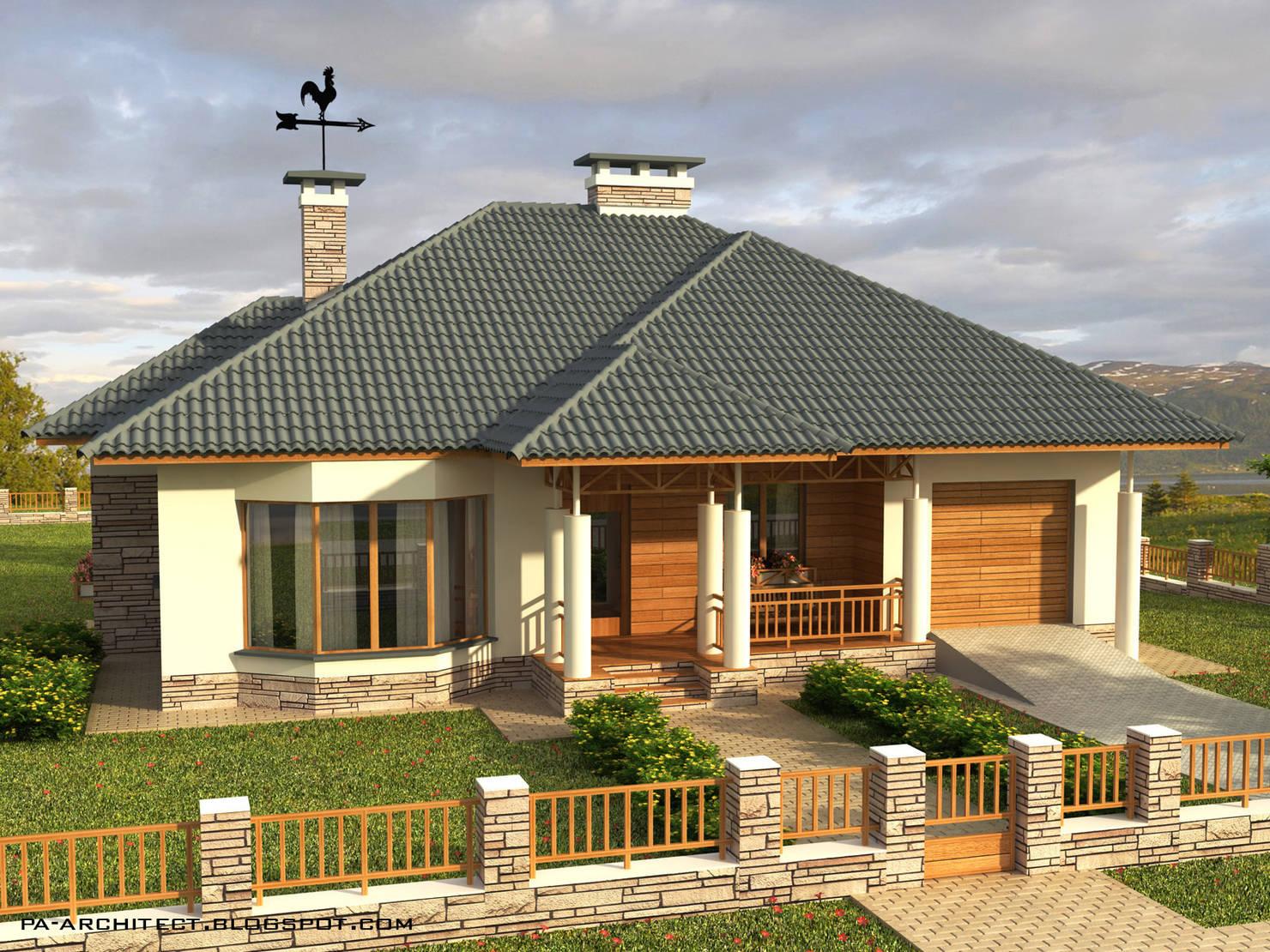 Практичный и стильный дом площадью 130 метров