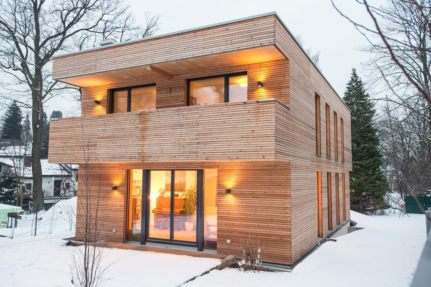 A cosy and warm wooden home