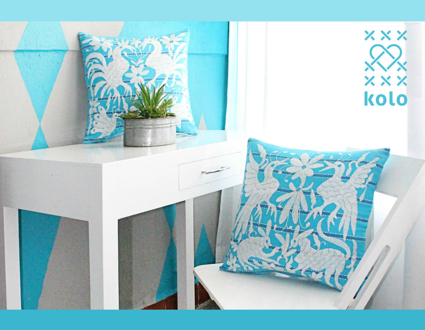 Color azul celeste en decoración