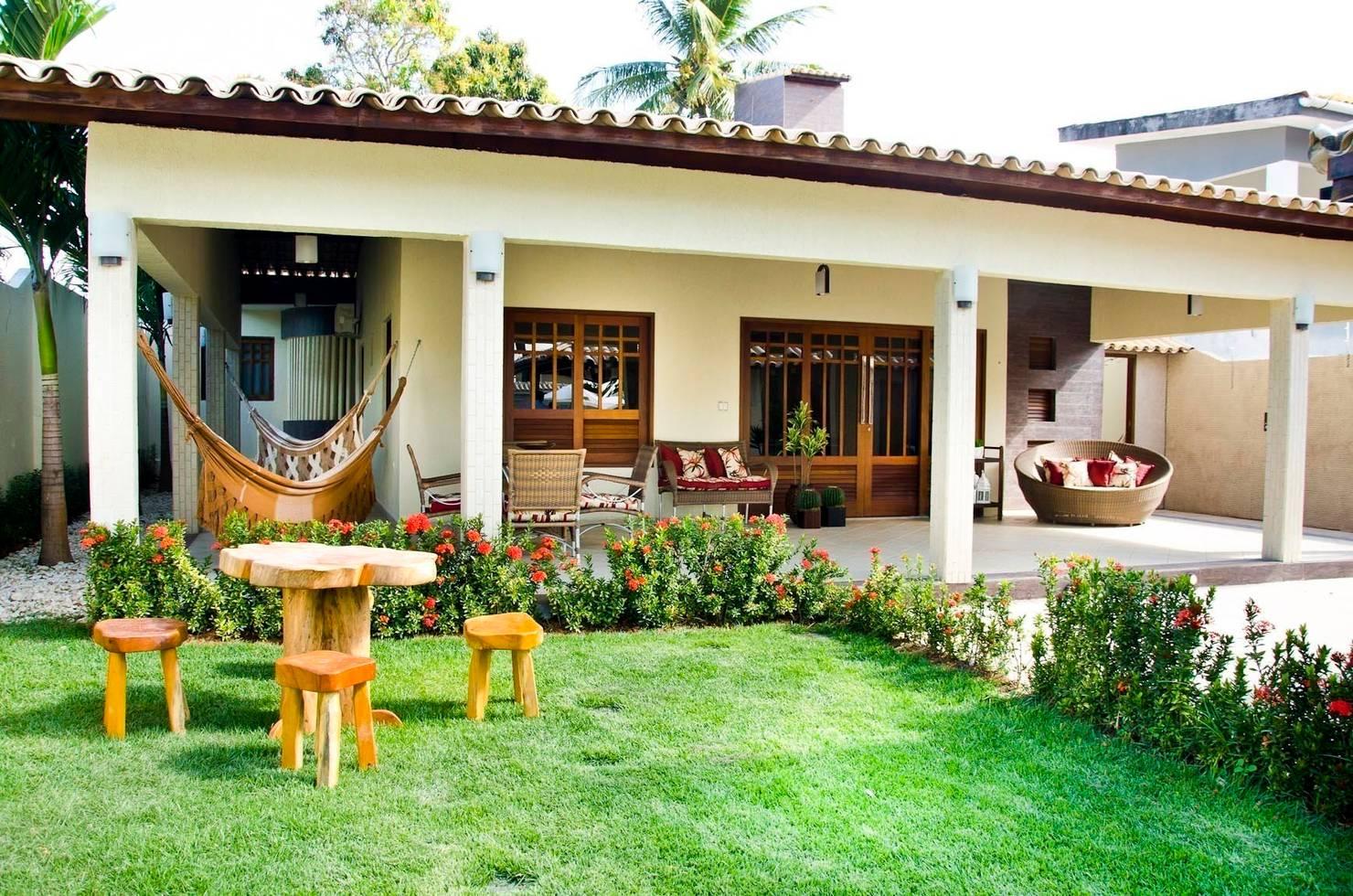 21 jardins maravilhosos em casas rústicas para te inspirar a criar o seu