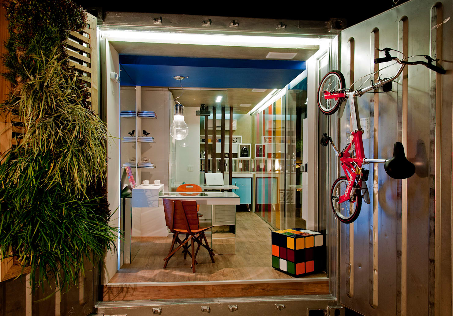Making office space out of a container + floor plans