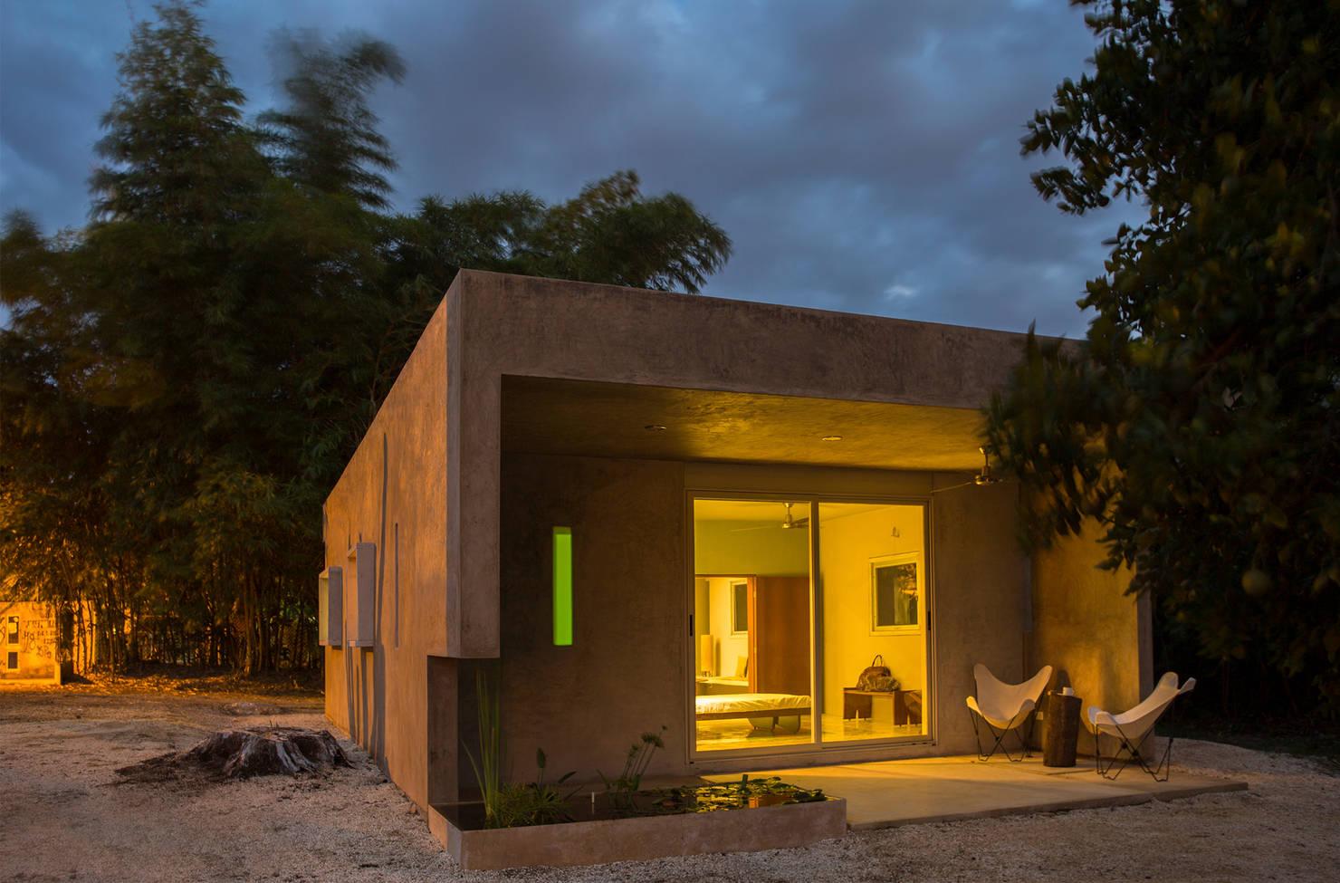 Проект одноэтажного дома из блоков за 0,8 млн рублей- фотографии