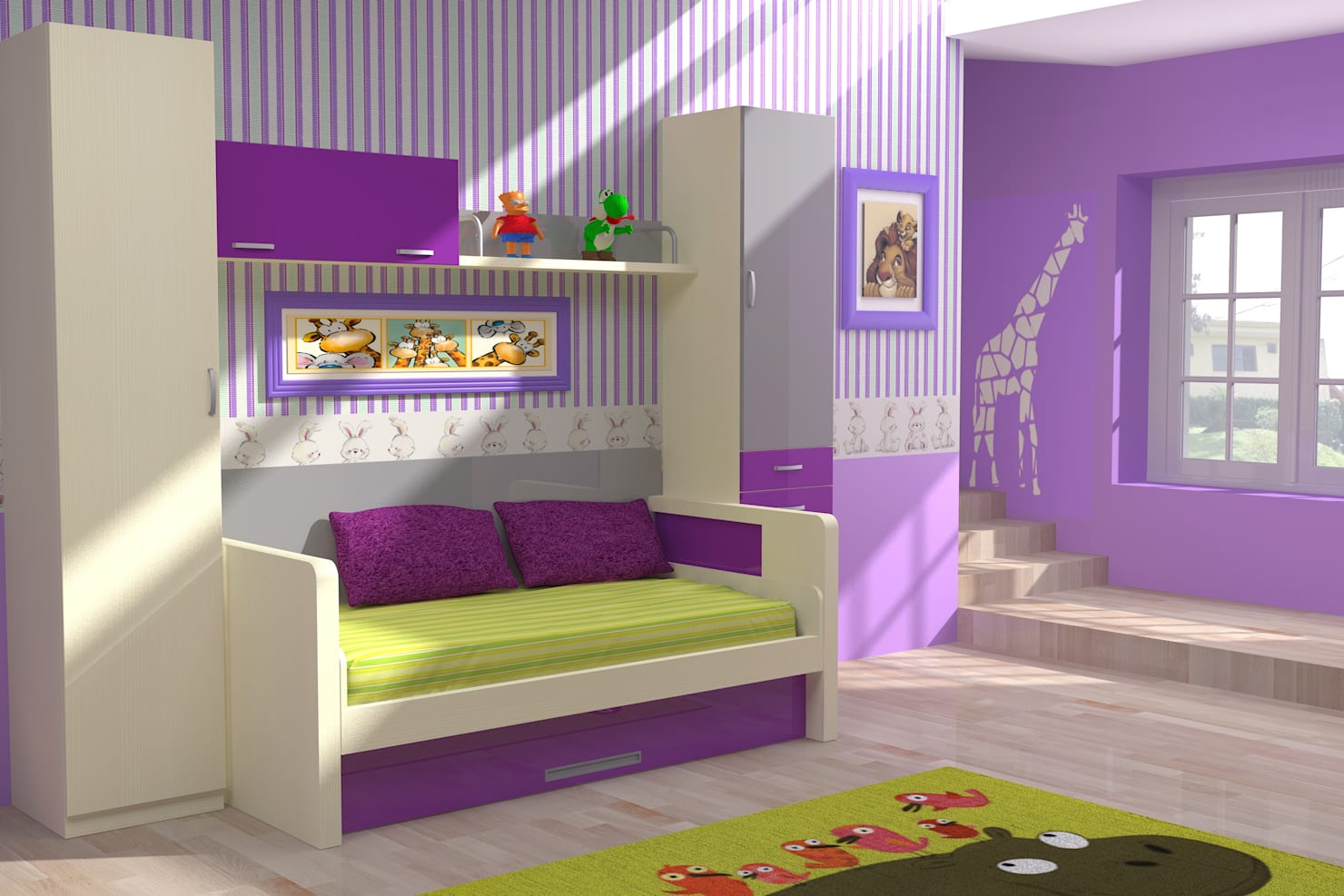 Nursery/kid's room by Muebles Parchis. Dormitorios Juveniles.