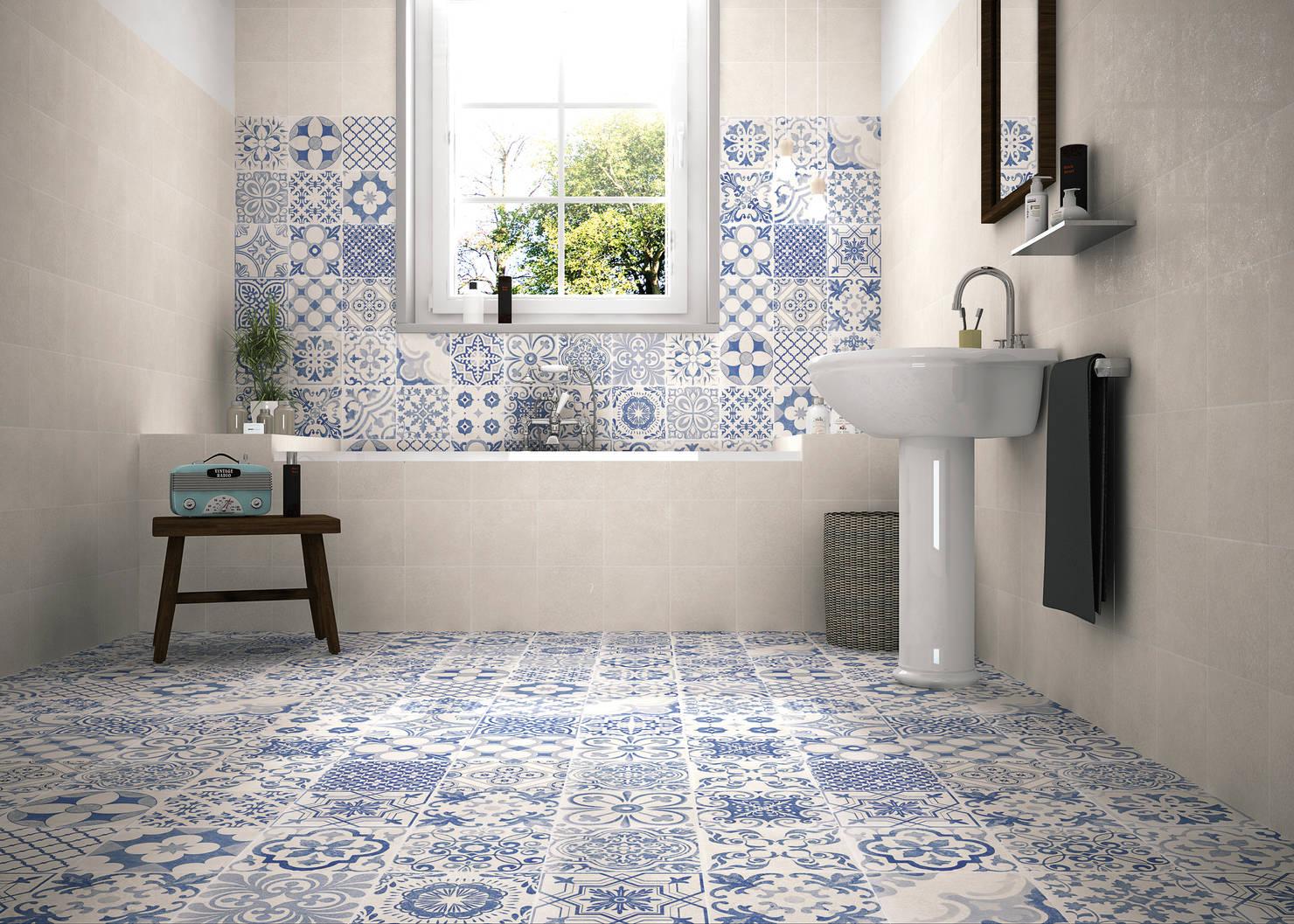 10 потрясающих комбинаций плитки для ванной комнаты