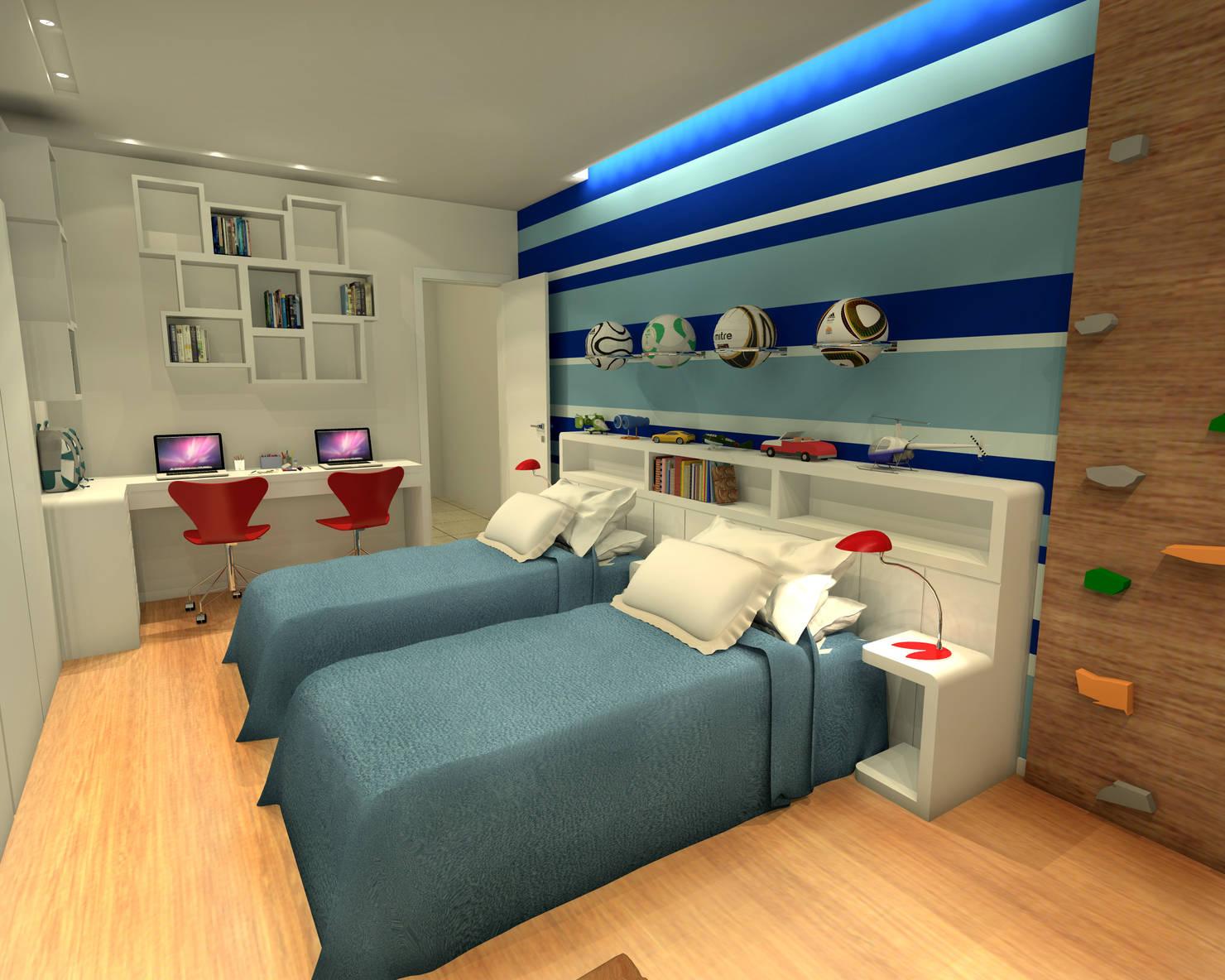 7 incríveis quartos de meninos
