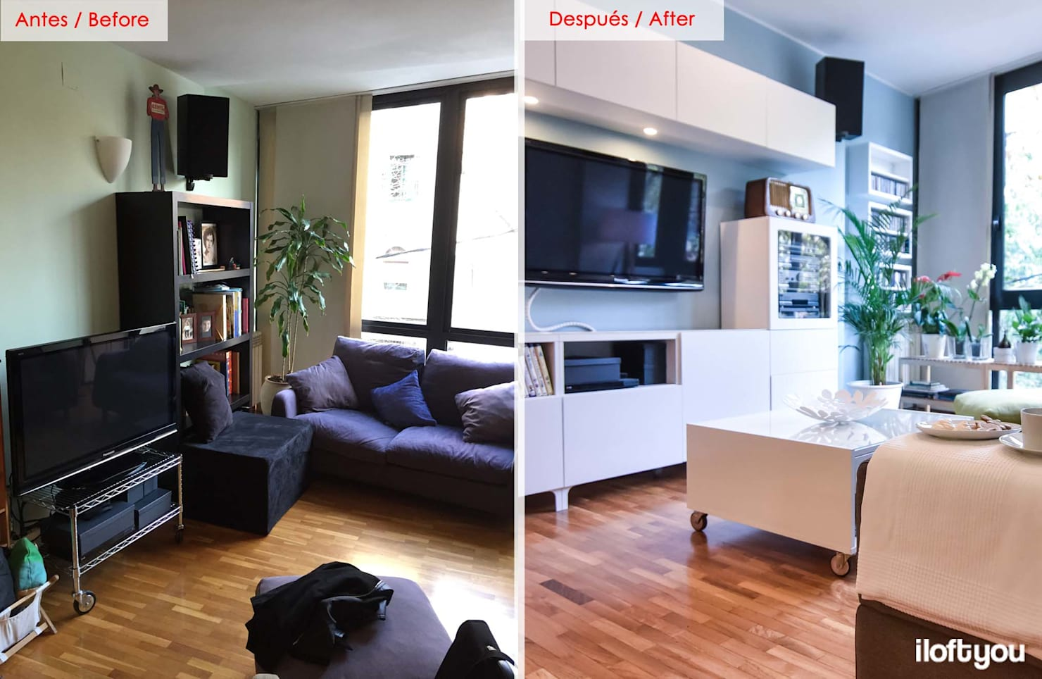 Before and after: 20 spaces change dramatically