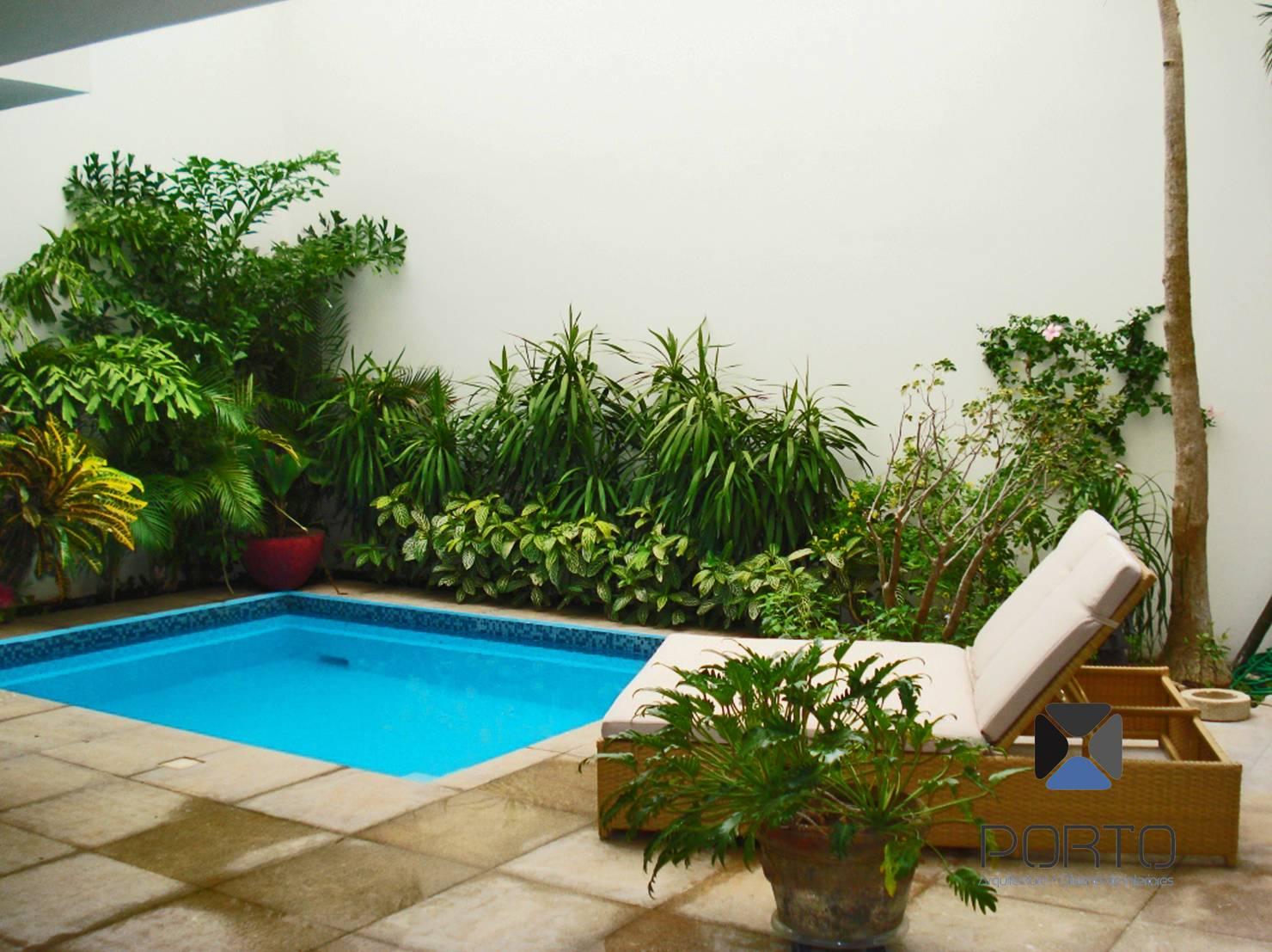 안뜰 및 작은 정원을 위한 아담한 수영장 17