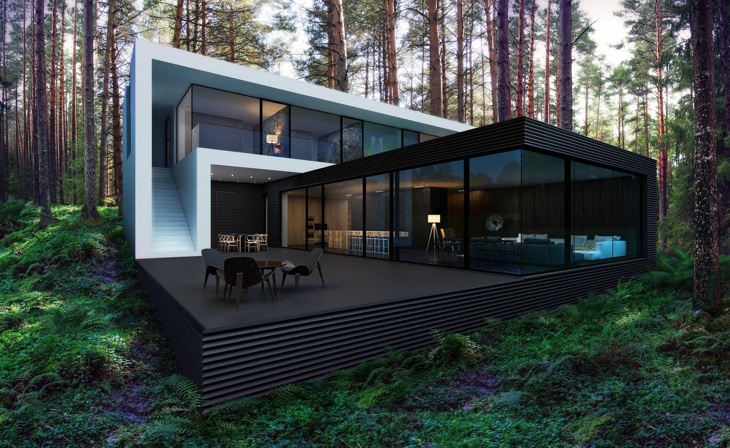 Футуристичный дом для современной семьи