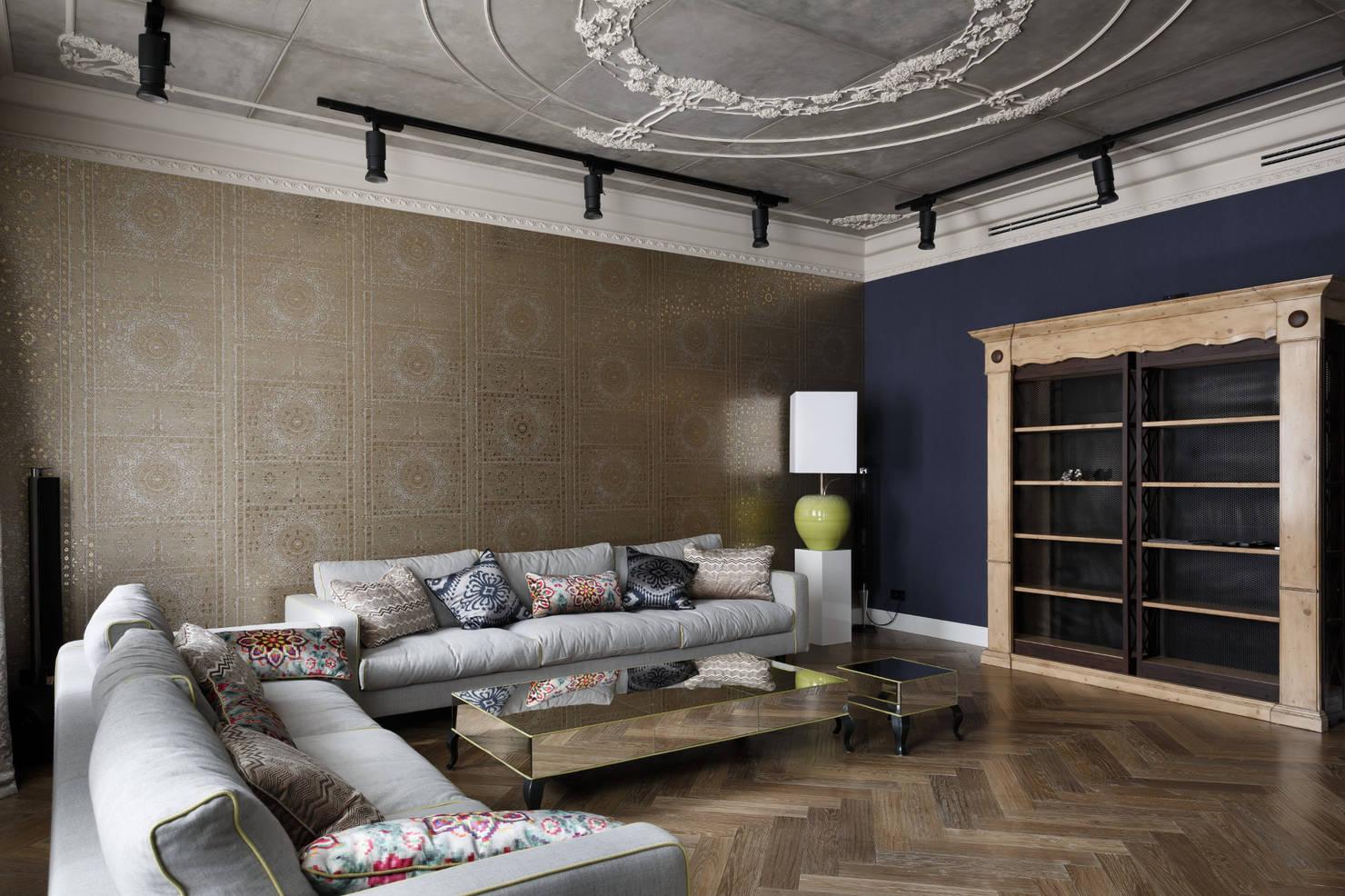 Роскошные апартаменты в эклектичном стиле на Морском проспекте