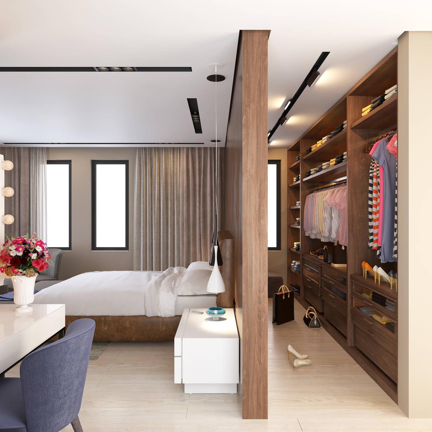 7 ideas para integrar el vestidor en el dormitorio