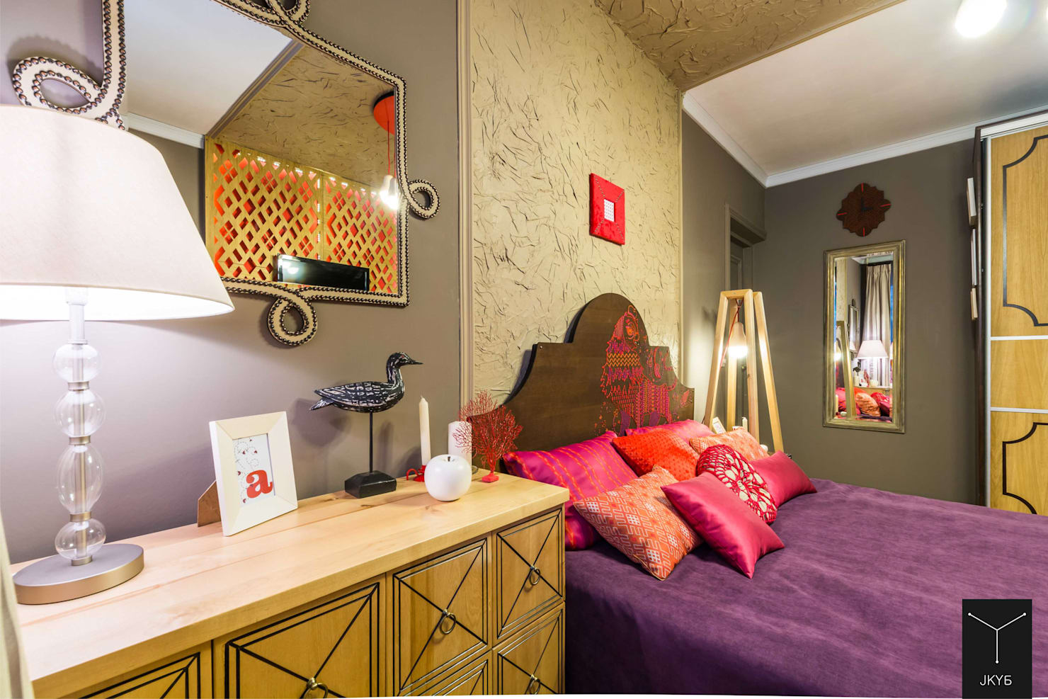 12 модных идей для дизайна стен в спальне- фотографии