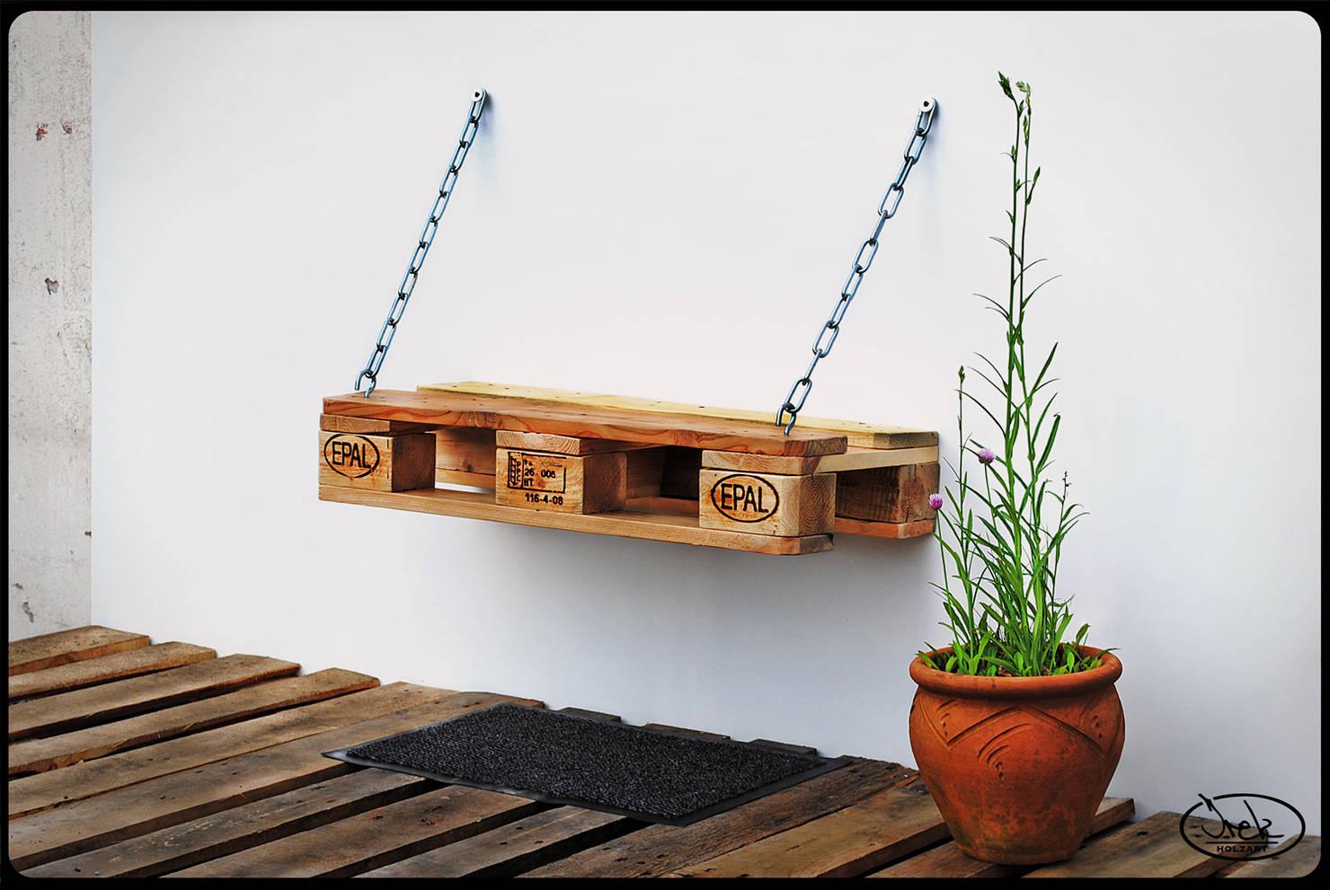 8 ideas geniales para transformar un palet en un mueble de exterior