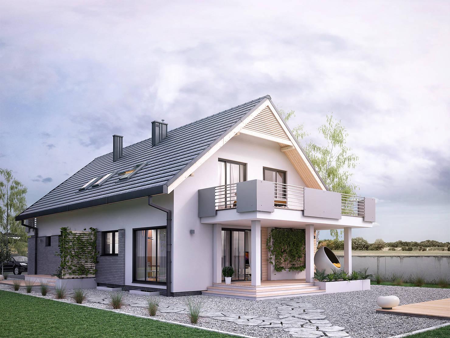 Ein modernes Einfamilienhaus präsentiert seine Grundrisse