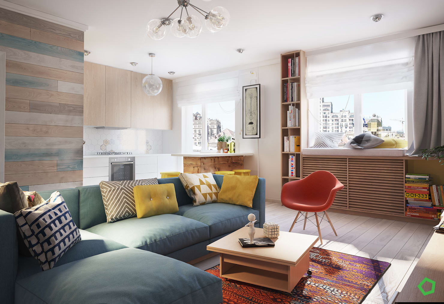 A modern apartment for cool, creative city dwellers