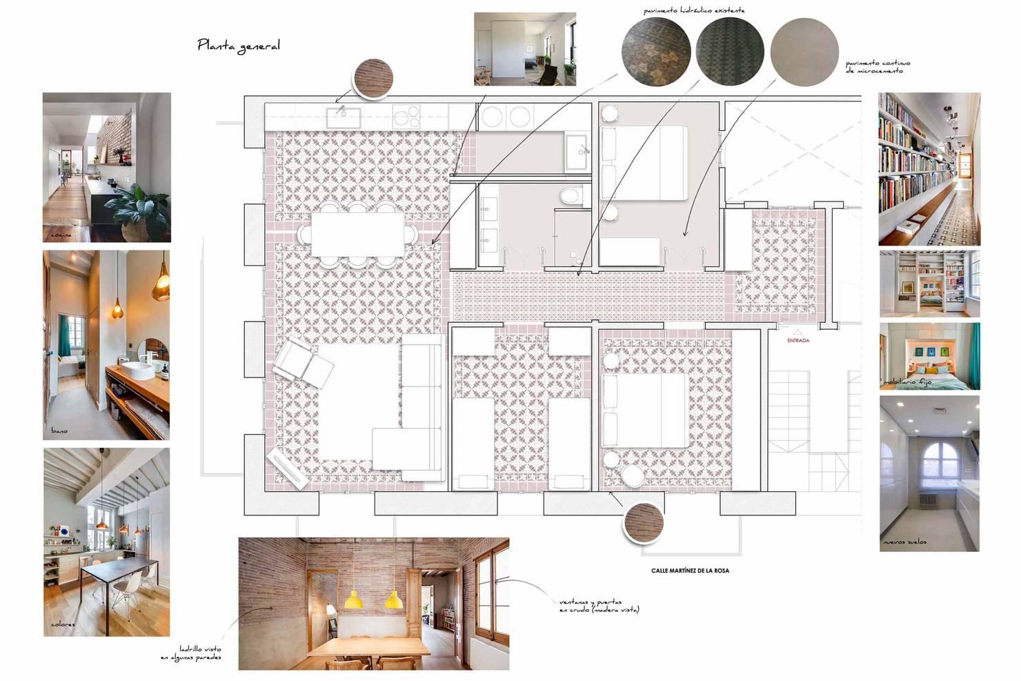 Un piso que mezcla con maestría tradición y modernidad