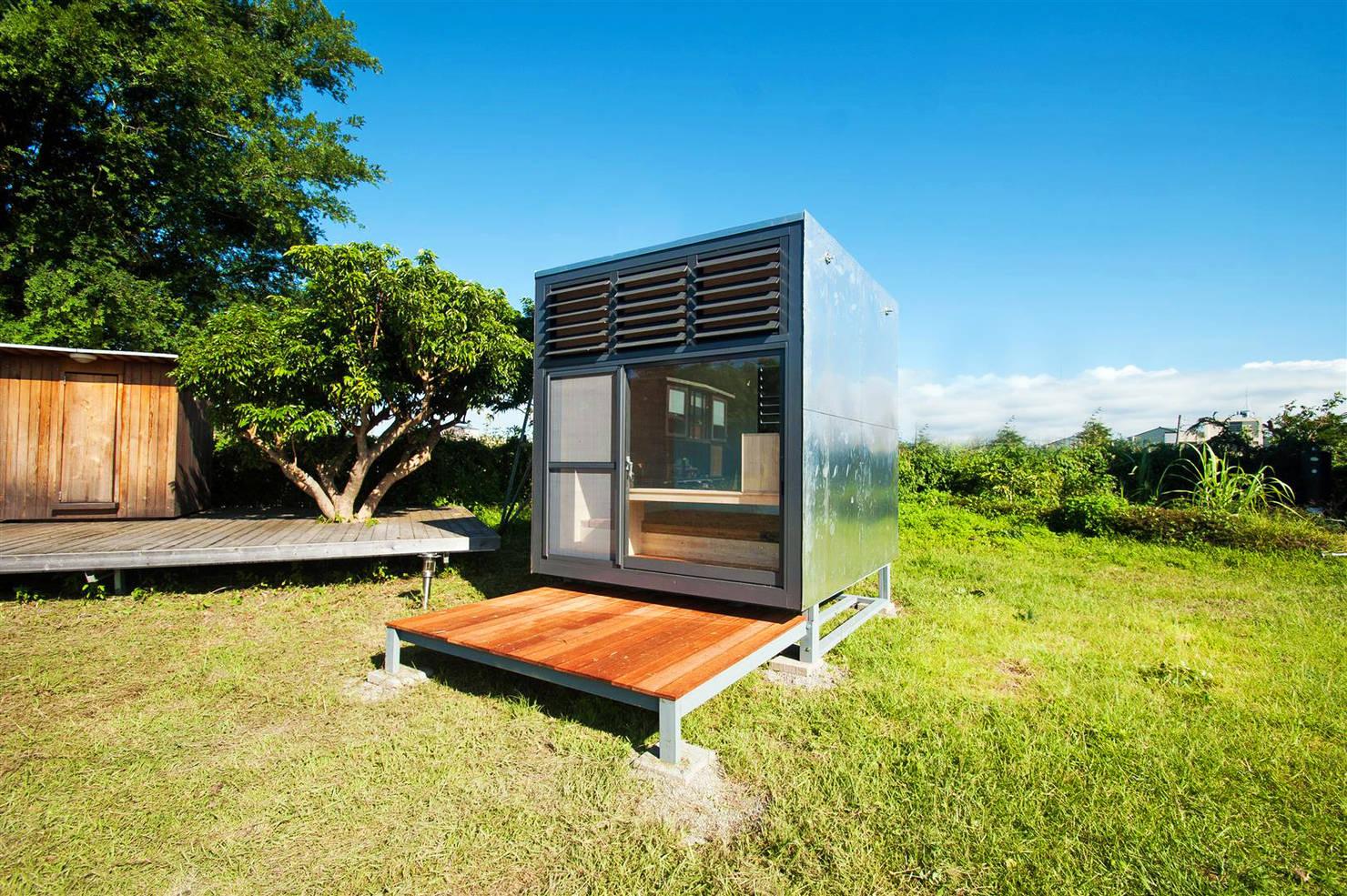 Mobiles Mini-Zuhause mit Ausblick