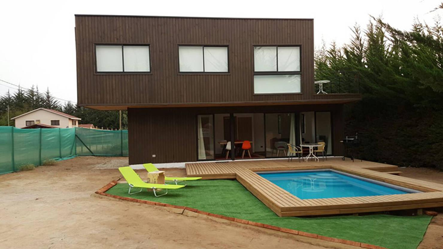 Diseño de una moderna casa de 100 m²