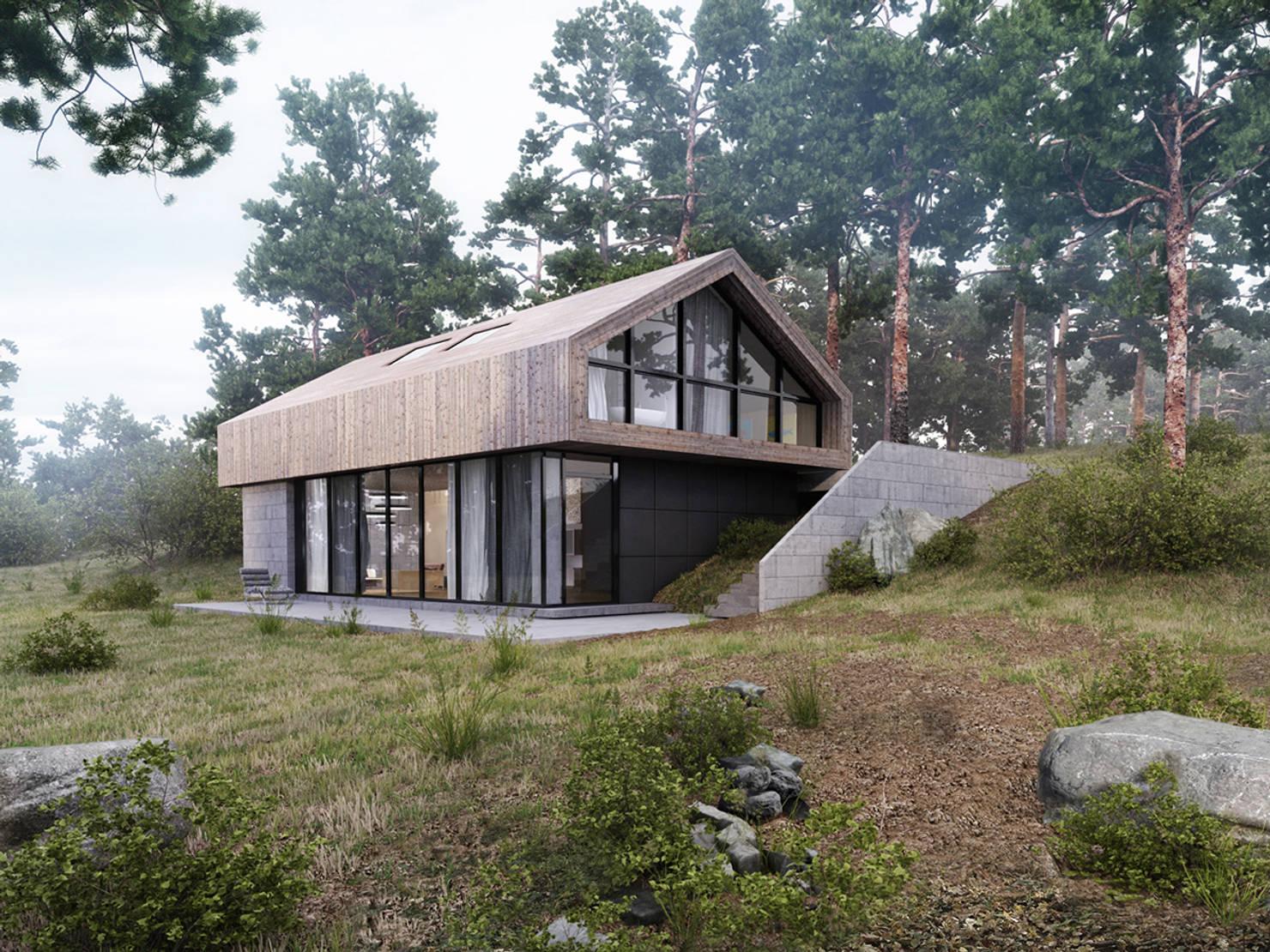 Скандинавский дом в лесу 150 кв метров