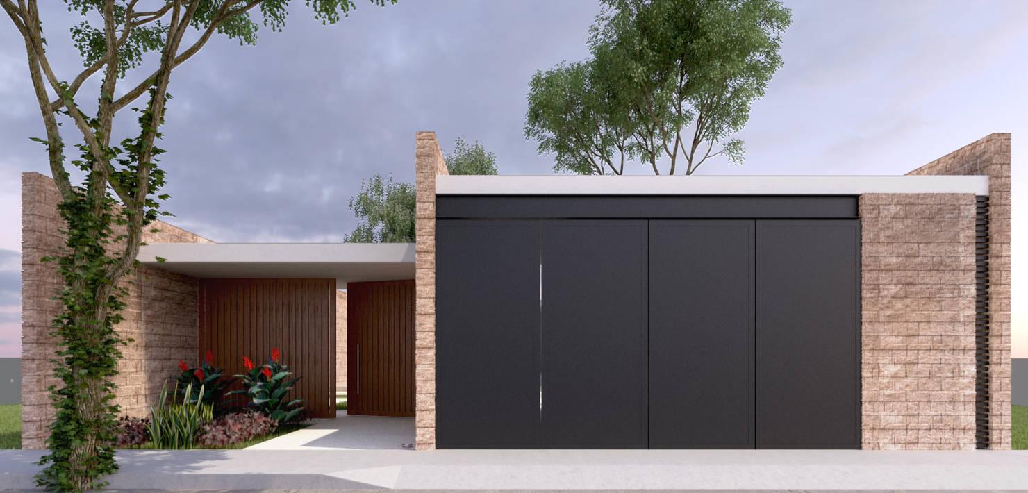 Diseño de casa moderna de 140 m²