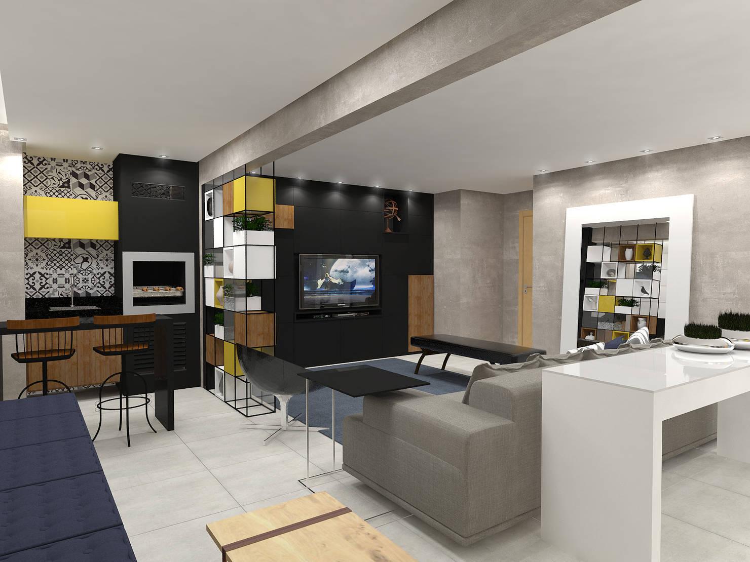 Projeto 3D Mostra o Futuro De Uma Casa Jovem e Moderna