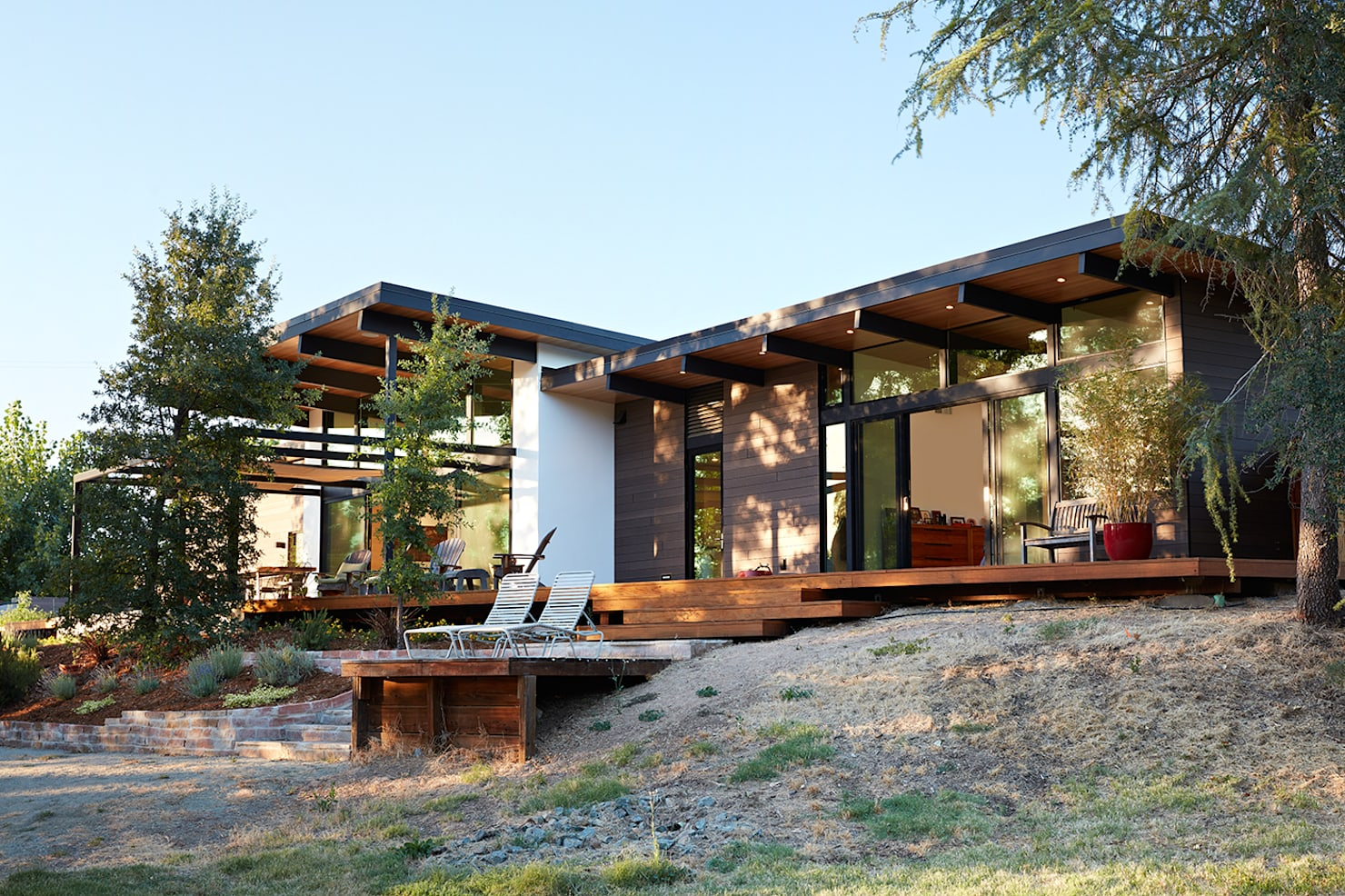 A modern open concept home with stunning exteriors
