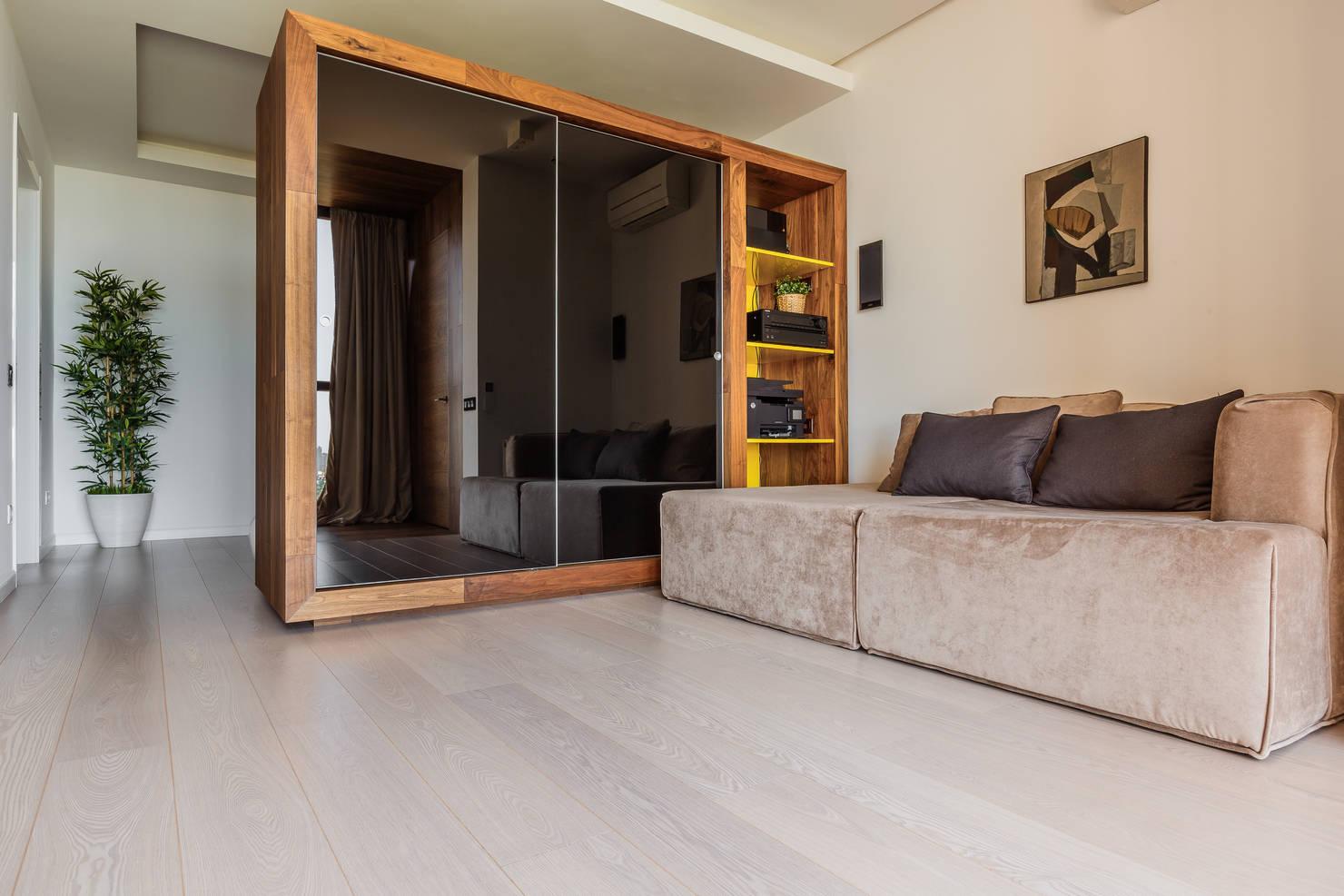 Дизайн двухкомнатной квартиры площадью 56 кв. метров- фотографии
