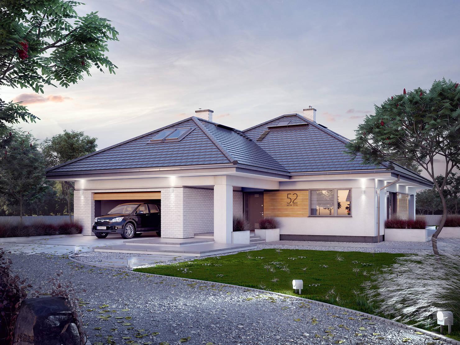 Проект дома с невидимой мансардой за 4 млн рублей