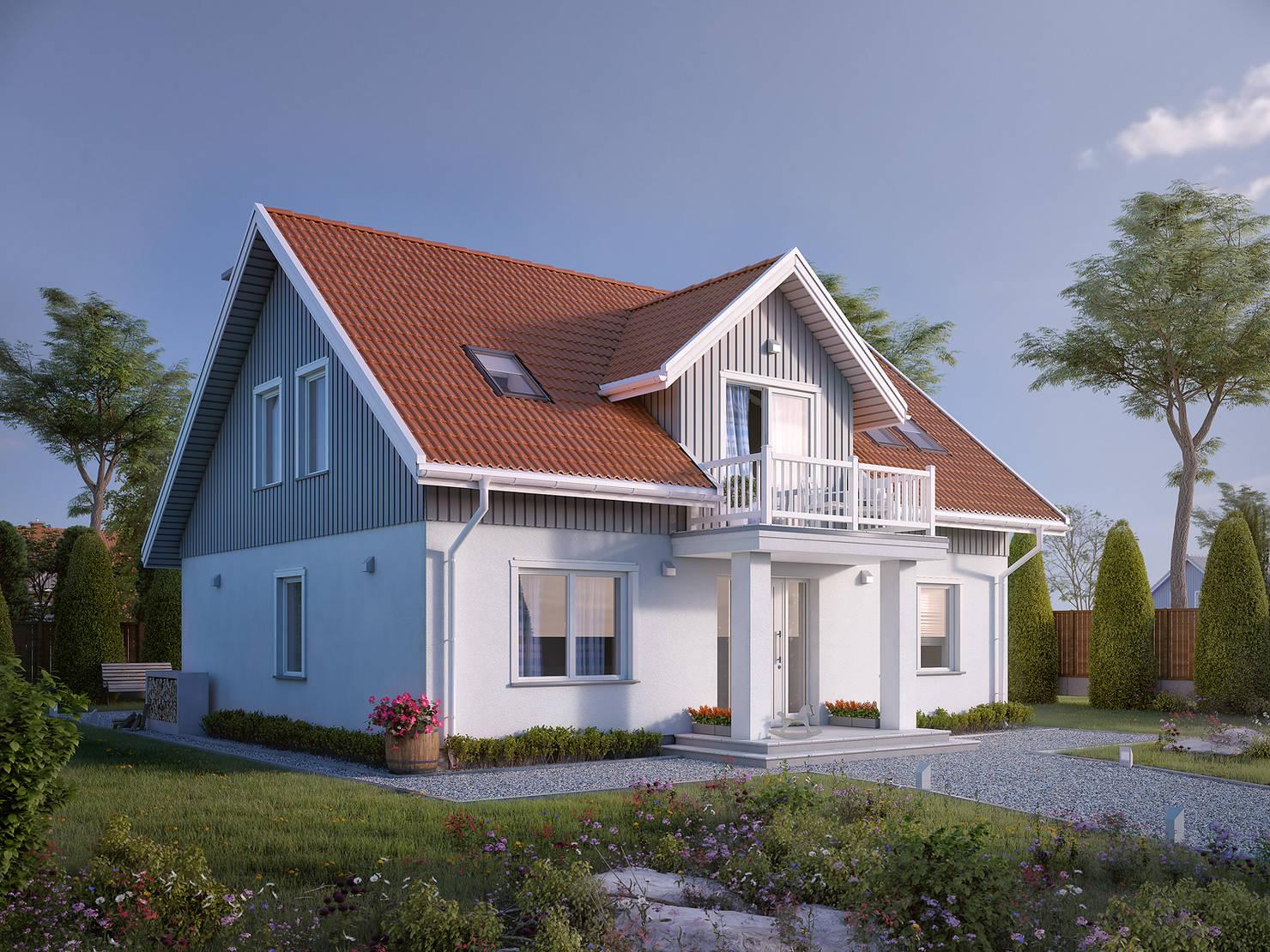 저비용으로 완성한 40평 붉은 지붕 주택