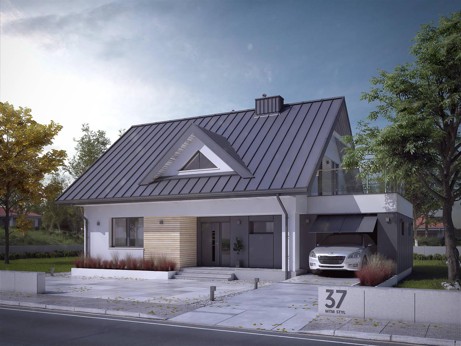 Современный дом для пригорода