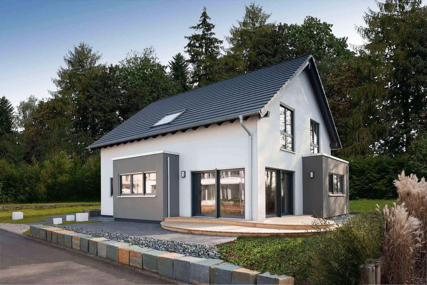 Компактный дом с оригинальными деталями