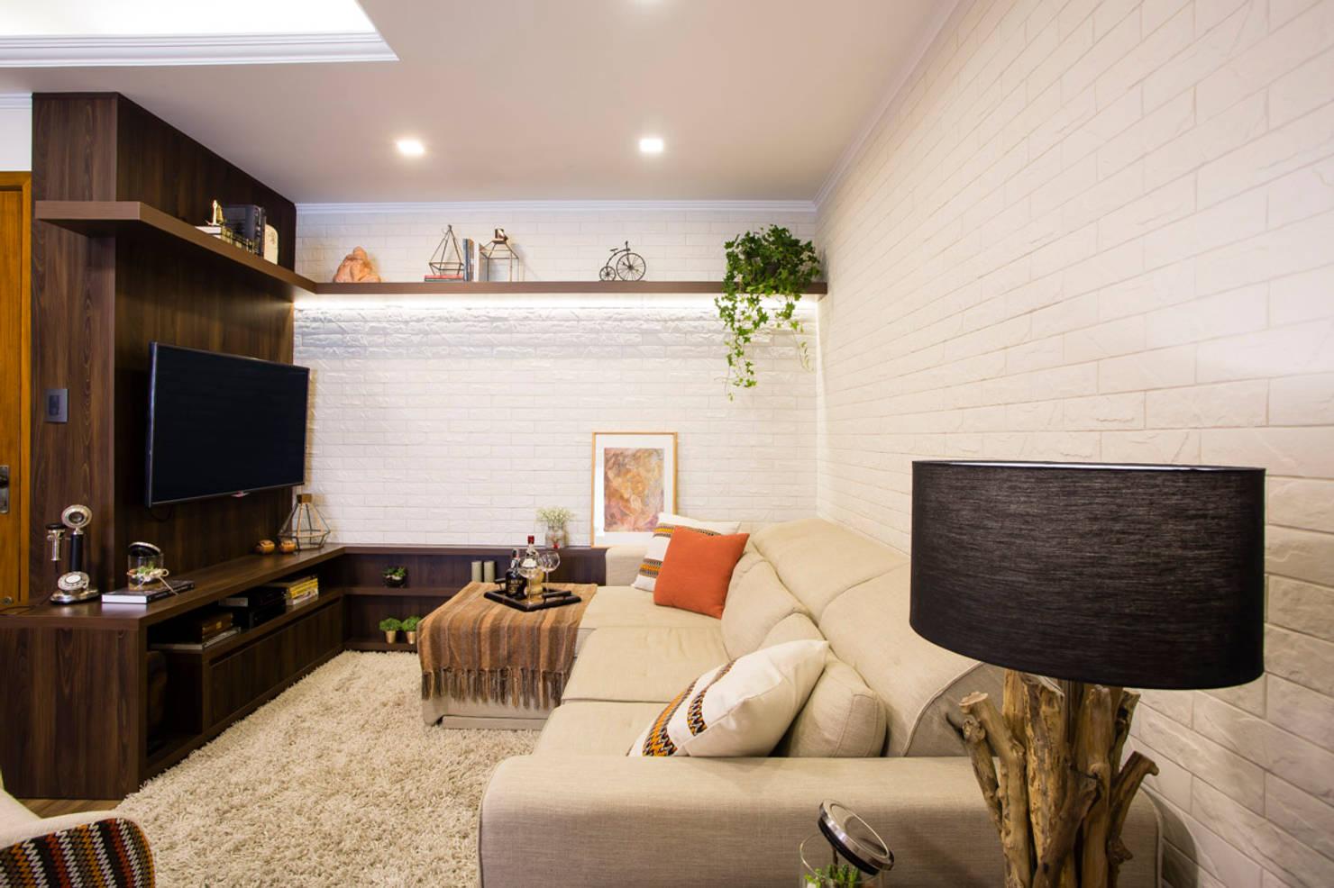 10 sugestões de cores para pintar a parede da sua pequena sala