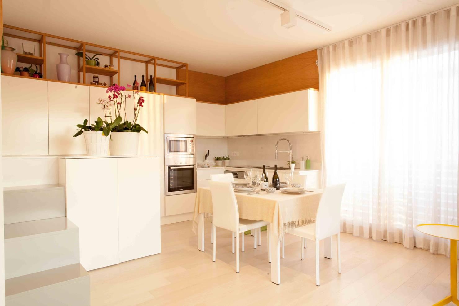 Un pequeño apartamento lleno de soluciones geniales