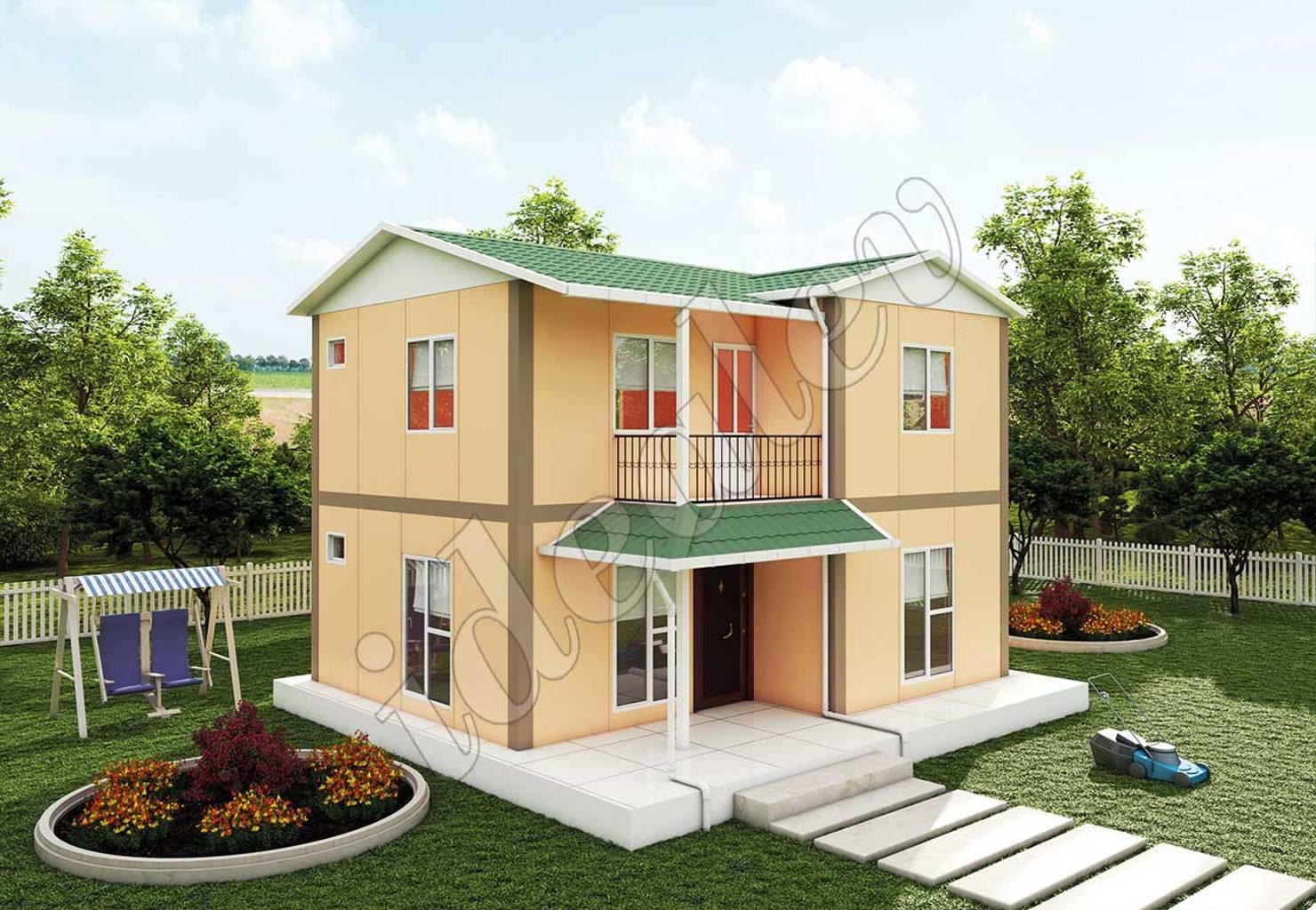 На фото - Проекты недорогих домов с планами