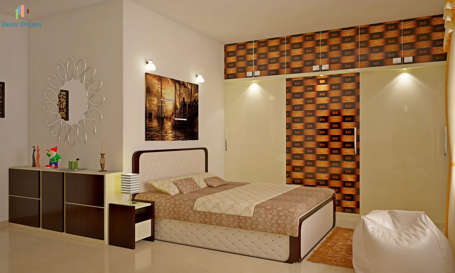 Sobha City, 3 BHK - Mr. Agrawal:  Bedroom by DECOR DREAMS
