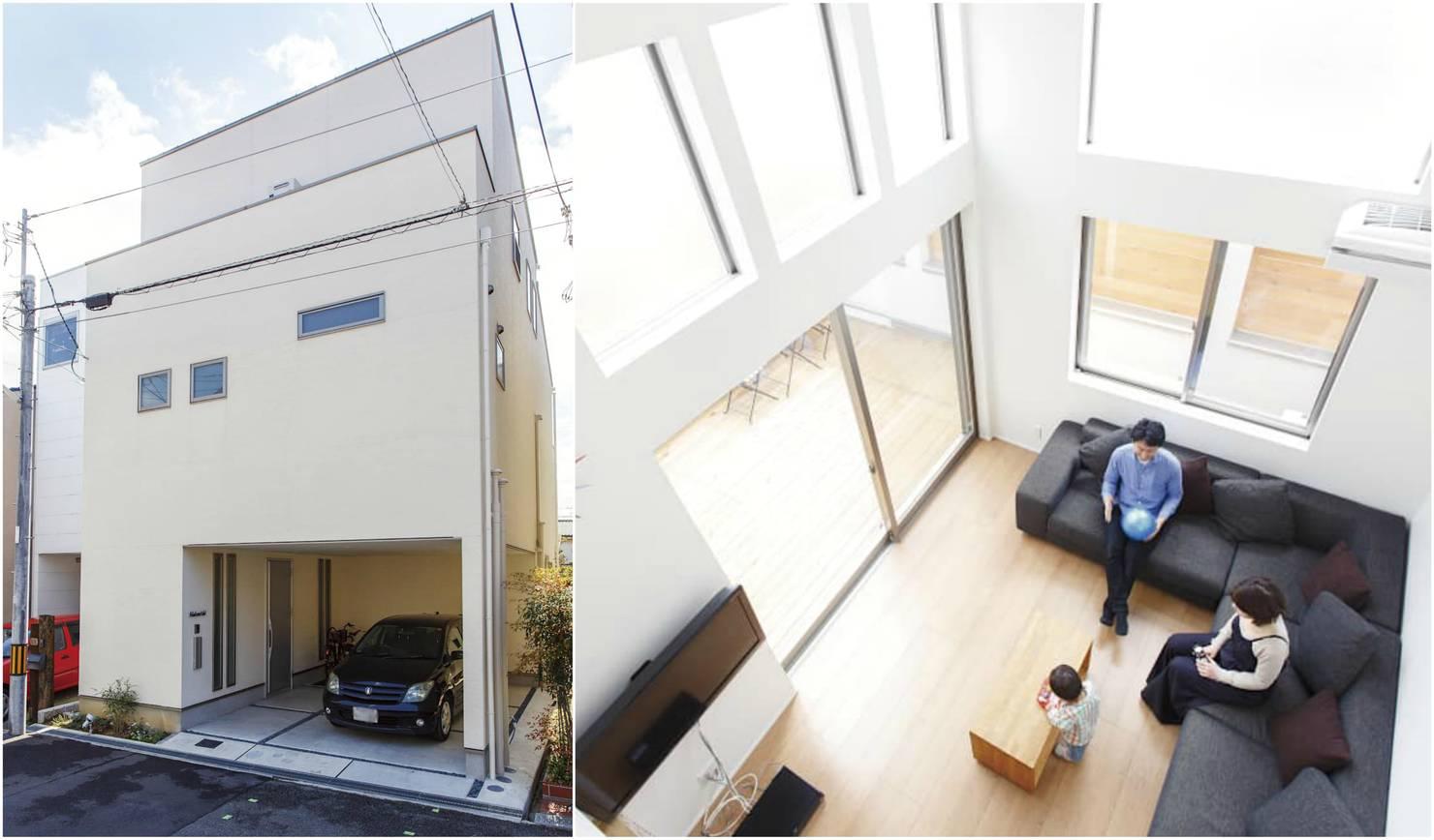 작지만 넓어 보인다, 건축면적 약 18평의 3층 주택