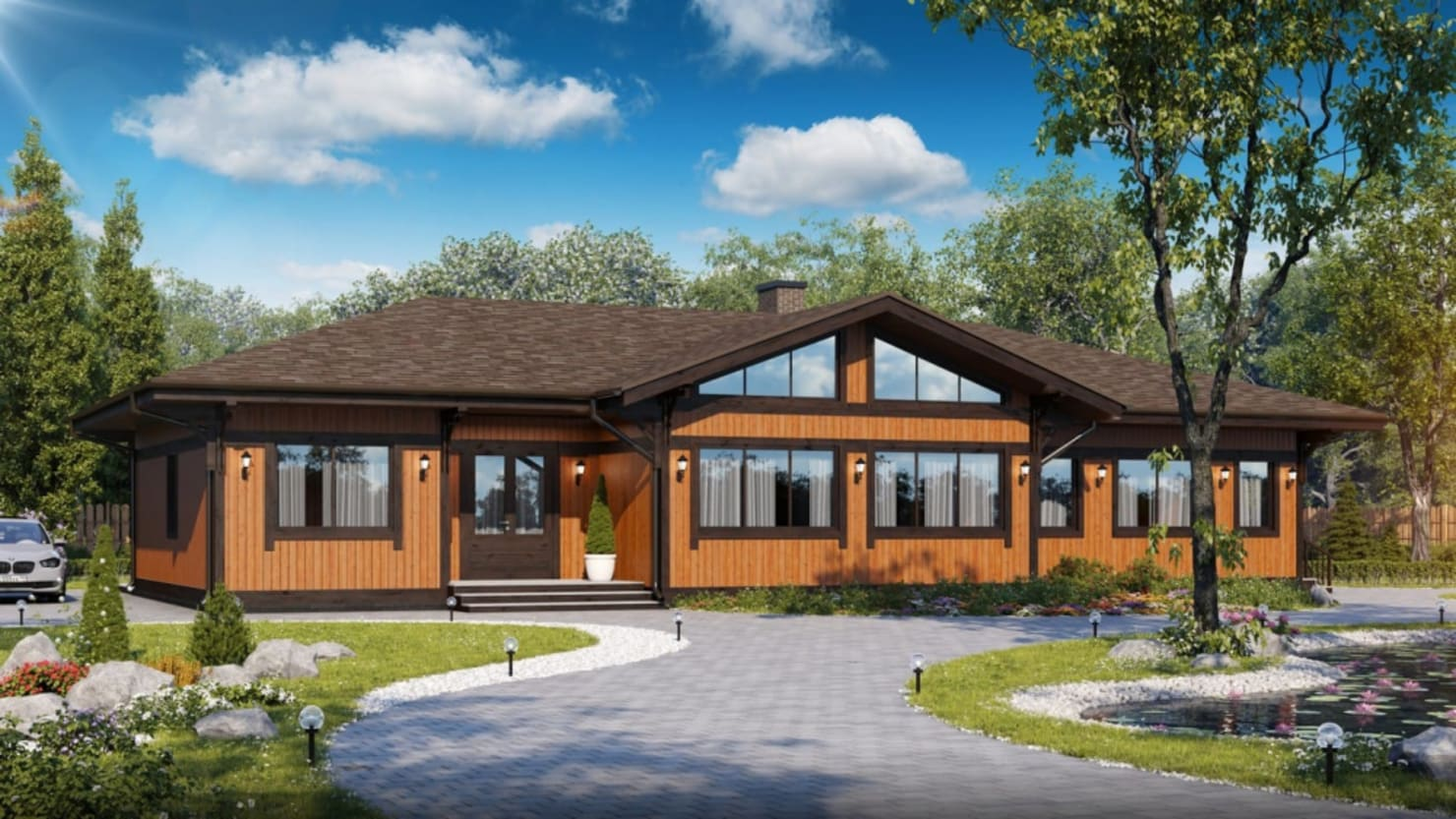 Проект дома за 2,7 млн в стиле кантри