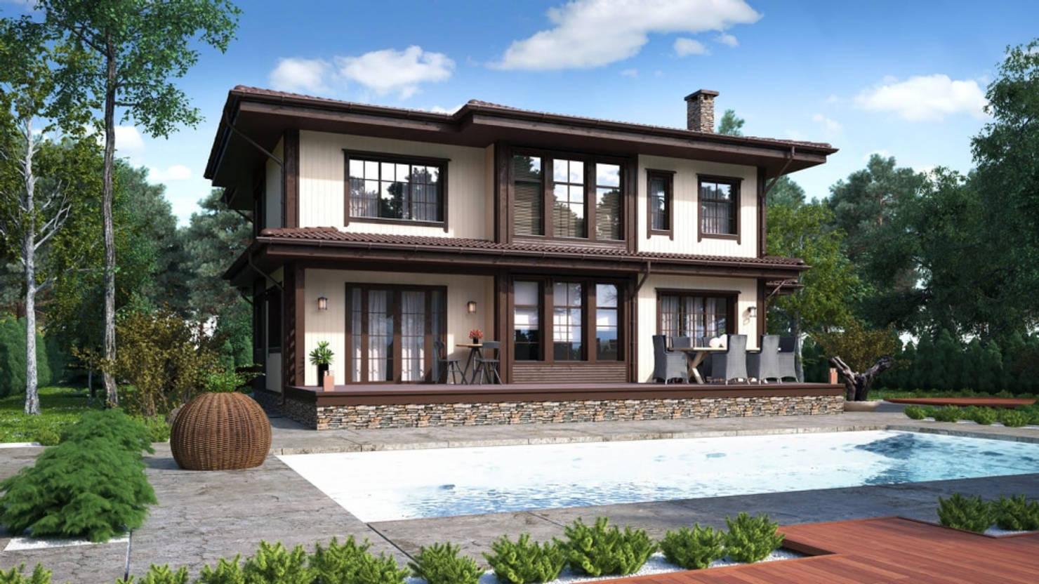 Проект дома с планировкой за 5,1 млн рублей (Москва)