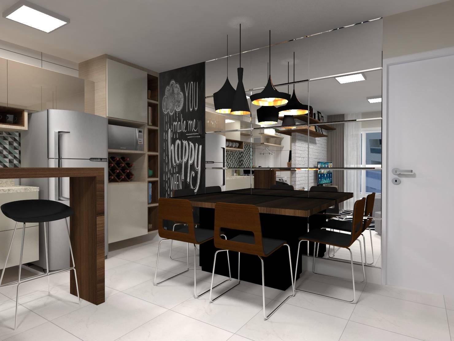 20 Projetos de Decoração em Apartamentos Pequenos com 45m2